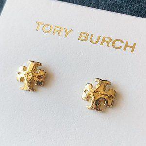 Tory Burch Logo Gold Earrings